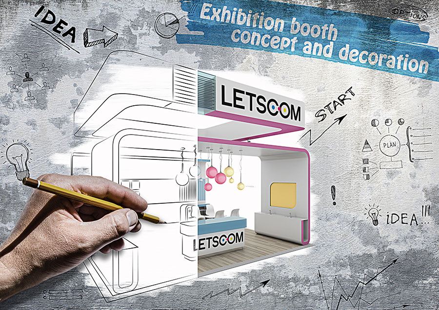 Exhibition booth concept and decoration